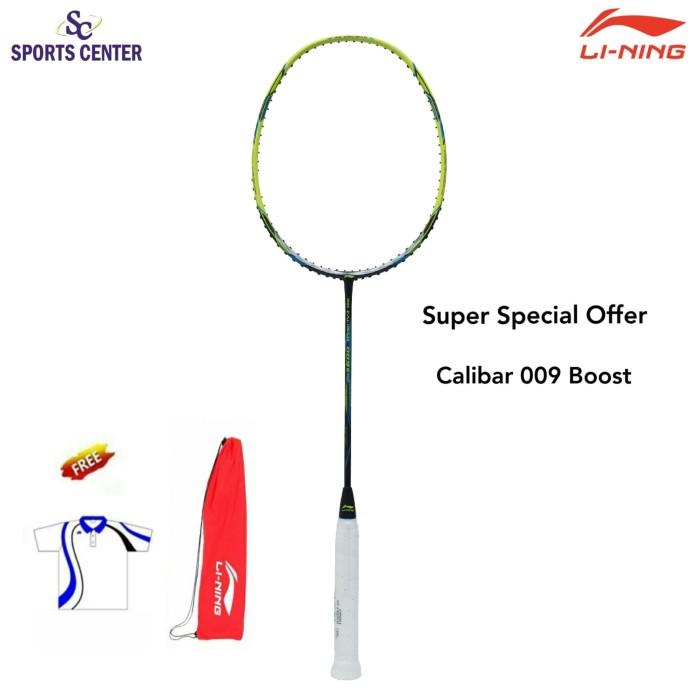 Foto Produk NEW!! Raket Badminton Lining 3D Calibar 009 Boost / 009B BlackLime dari Sports Center