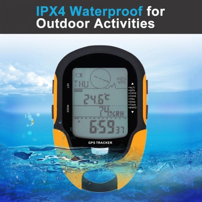 Foto Produk GPS NAVIGASI HANDHELD Waterproof Digital Altimeter Barometer USB port dari DO OFFICIAL STORE