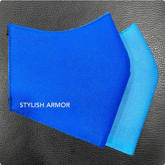 Foto Produk Masker Stylish Armor Silver Antimicrobial 3ply Hijab Blue 12pcs - M dari STYLISH ARMOR