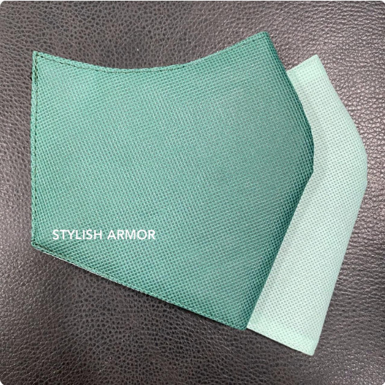 Foto Produk Masker Stylish Armor Silver Antimicrobial 3ply Hijab Green 12pcs - M dari STYLISH ARMOR