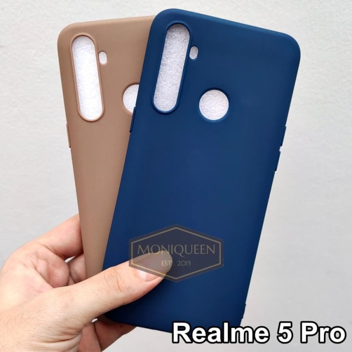 Foto Produk Case Realme 5 PRO CANDY Softcase Softcase Babyskin Macaron Color Case - Navy dari MoniQueenShop