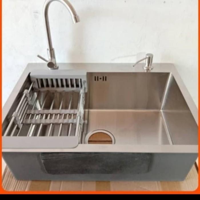 Jual Kitchen Sink Golden Hand 60x45 Paket Kran Angsa Dan Soap Dispenser Kota Depok Berkah Hardware Id Tokopedia