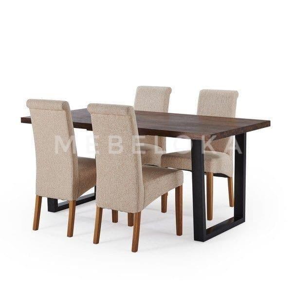 Jual Elya Dining Table Set Set Meja Makan Meja Makan 4 Kursi Kayu Jati Kab Jepara Mebeloka Tokopedia