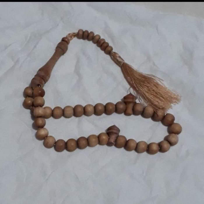 Foto Produk Tasbih Kayu Cendana ASLI Wangi Original 33 Butir dari Riza Craft
