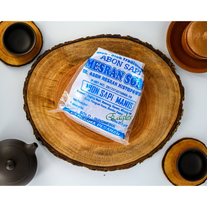 Foto Produk Abon sapi MESRAN manis 250gr Oleh tradisional khas SOLO enak gurih kot - Manis dari Theeagles