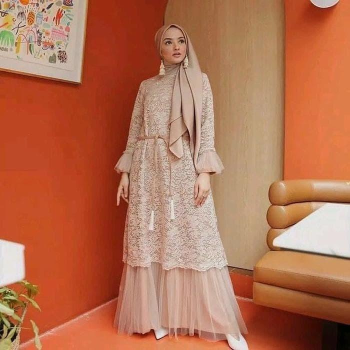 Jual Gamis Wanita Brukat Busana Muslim Pesta Dres Casual Kondangan 2020 Jakarta Barat Dicky Shop07 Tokopedia