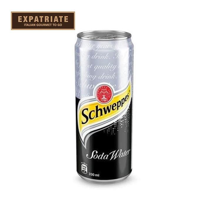 Jual Schweppes Soda Water Can 330ml Jakarta Utara Expatriate Gourmet To Go Tokopedia