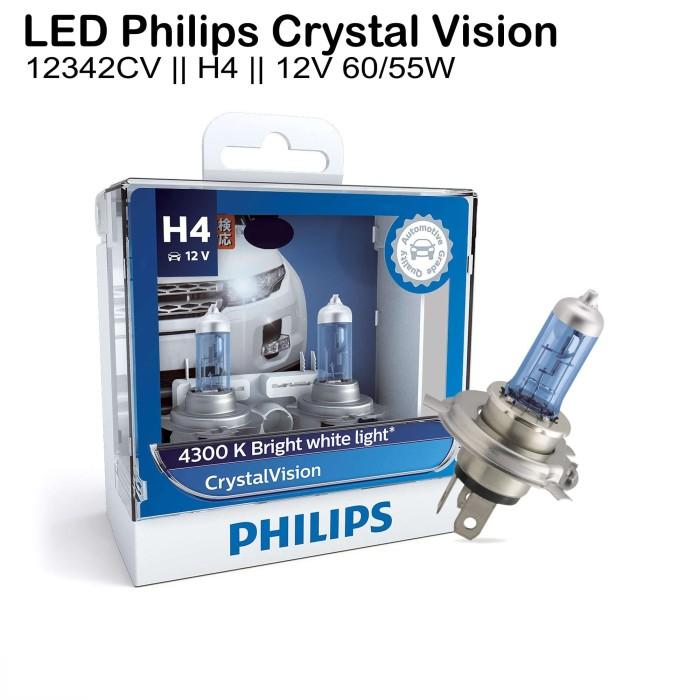 Jual Philips Bohlam Lampu Mobil Crystal Vision H4 12v 60 55w 12342cv Jakarta Utara Automobil Variasi Tokopedia