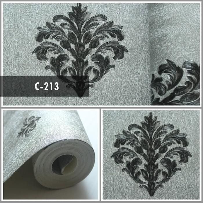 jual wallpaper sale ready icon klasik hitam silver 53cm x 10m kota malang siro wallpaper dinding tokopedia tokopedia