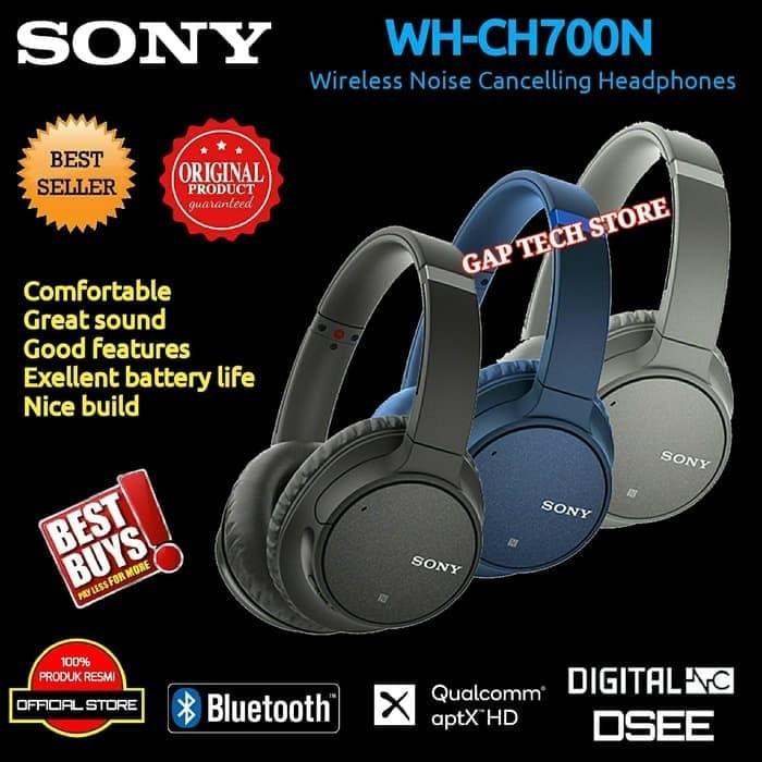 Foto Produk Sony WH CH700N / CH 700N Noise Cancelling Bluetooth Headphone Original dari toko ardiyanto
