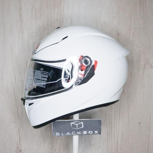 Jual Agv K3 Sv Solid White Kab Bantul Blackbox Official Tokopedia