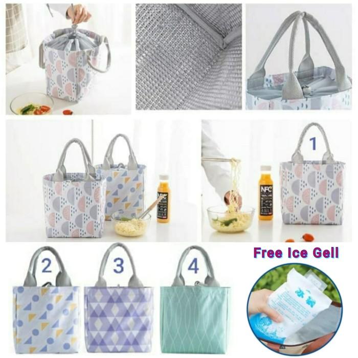 Foto Produk Lunch Bag Alumunium/ Cooler Bag/Tas Bekal Motif Tote Serut - - 1 Circle dari Travelycious