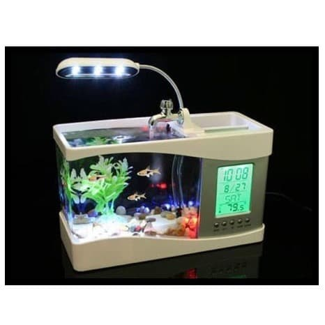 Jual Akuarium Aquarium Digital Mini Unik Usb Ikan Hias Cupang Guppy Meja Jakarta Timur Urban Custom Tokopedia