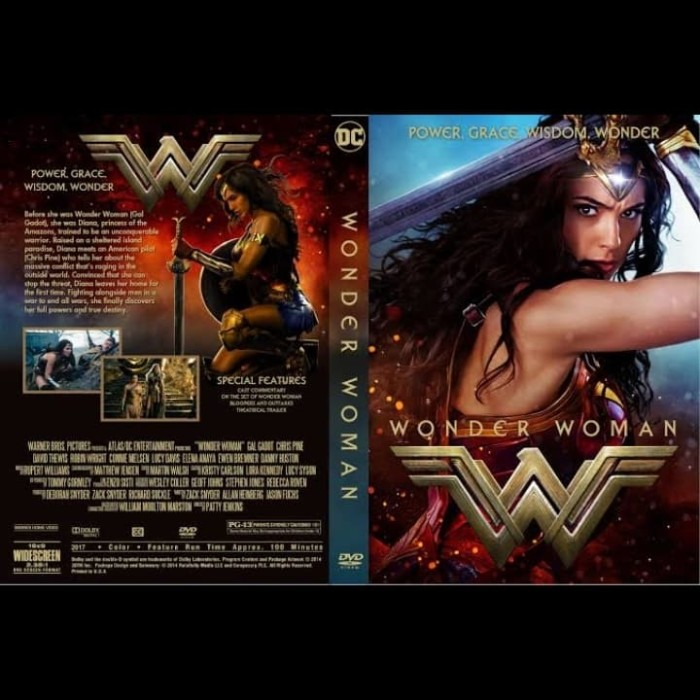 Jual Kaset Dvd Film Wonder Woman 2017 Jakarta Barat Leoniljaya Dvd Tokopedia