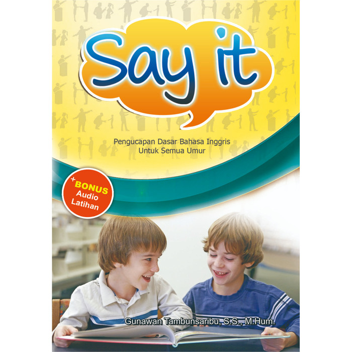 """Foto Produk """"Say It"""" Basic Pronounciation - Dilengkapi CD dari roabaca"""