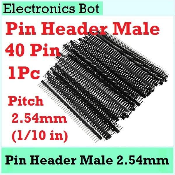 Foto Produk Pin Header Male Connector 40 Pin Breakable 1 Pcs 1 Buah Penghubung PCB dari Electronics Bot Store