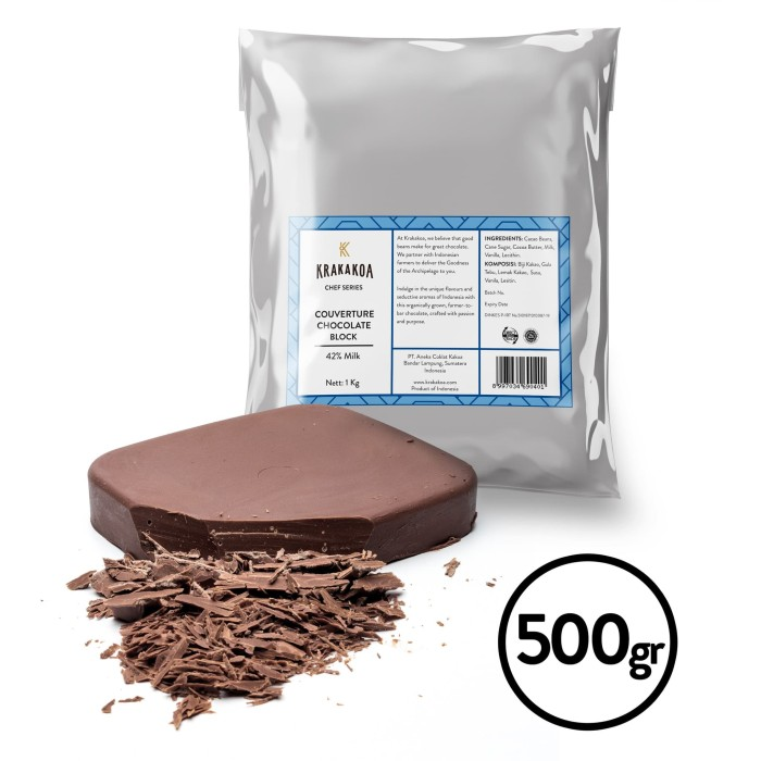 Foto Produk 42% Milk Chocolate Couverture 500gr dari Krakakoa Official