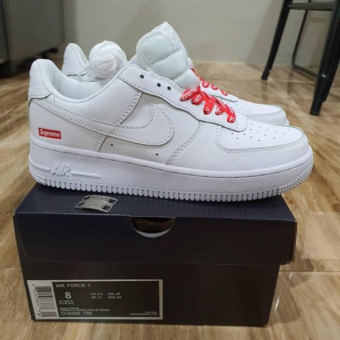 Jual Nike Air Force 1 X Supreme White