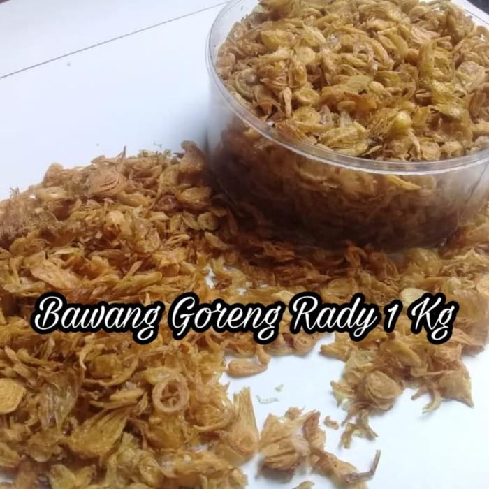Foto Produk Bawang Goreng Asli Brebes Gurih Dan Renyah 1 Kilogram. dari Bawang Goreng Rady