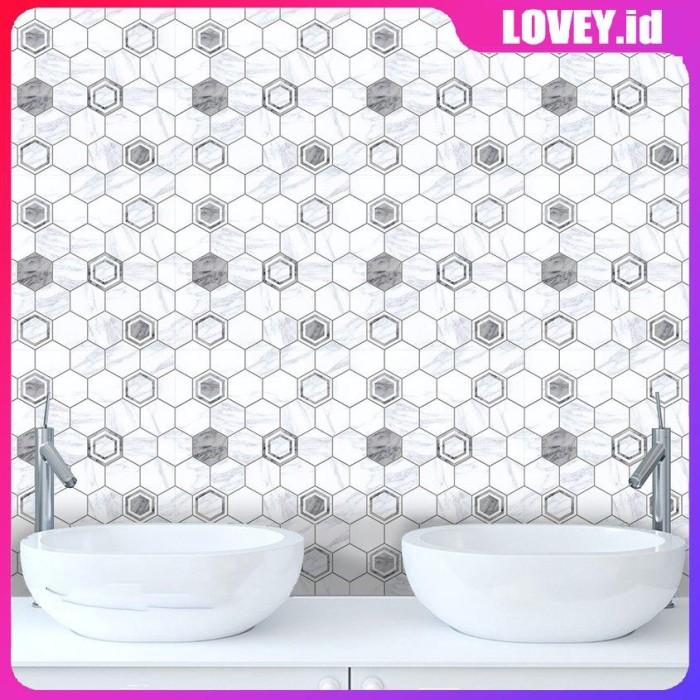 Jual Cz10p054 Simple Marble Texture Gray White Kitchen Tiles Wall Jakarta Selatan Deanna Shop9 Tokopedia