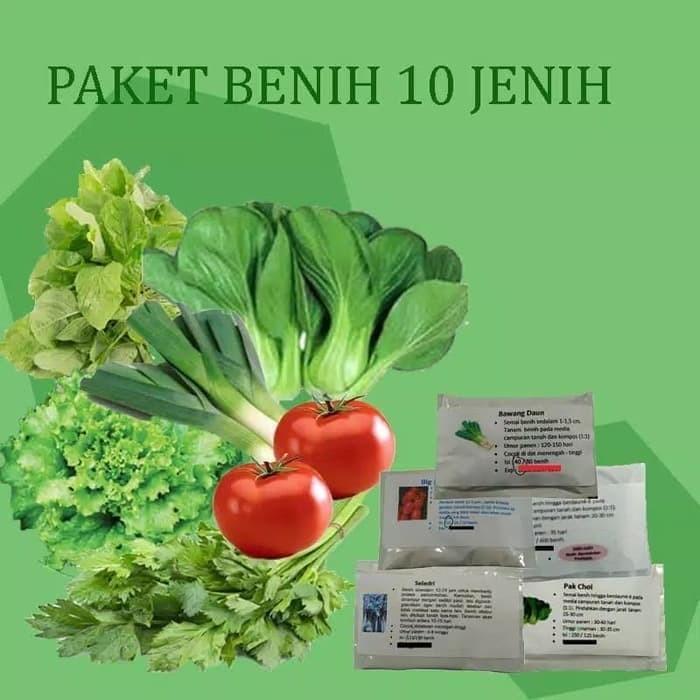 Jual Paket Hemat Benih Sayuran 10 Jenis Bibit Sayur Benih
