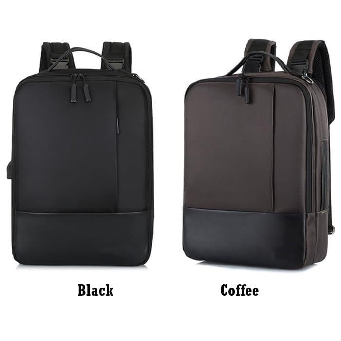Foto Produk Tas Ransel Laptop Pria Kerja Kuliah Multifungsi Selempang Import G0038 dari Gudang Distributor Murah