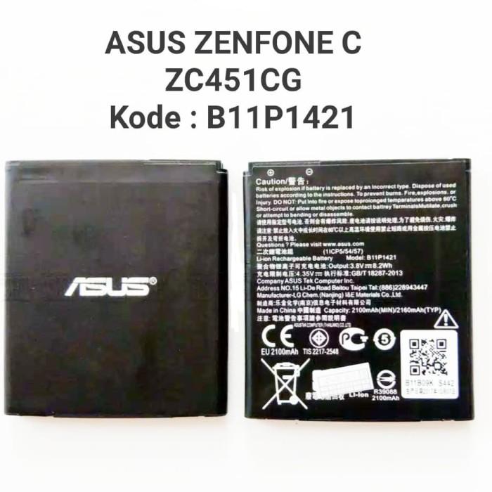 Foto Produk Baterai Original Asus Zenfone C ZC451CG Z007 B11P1421 4C X002 dari Cindy acc shop