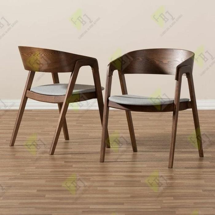 Jual Kursi Cafe Minimalis Modern Kayu Jati Berkualitas 02 Kab Jepara Furnitureklasikjepara Tokopedia