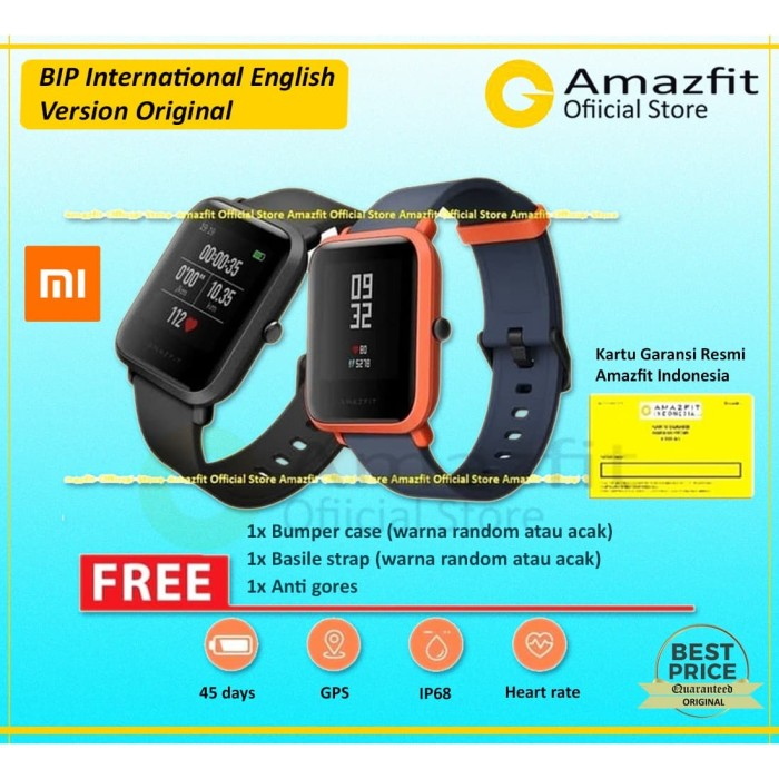 Foto Produk Xiaomi Huami AMAZFIT Bip International English Version Smartwatch - Hitam dari Amazfit Official Store