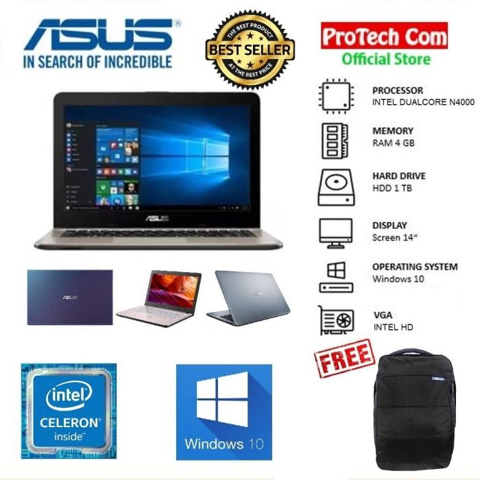 """Foto Produk ASUS VIVOBOOK MAX X441MA DUALCORE N4000 4GB 1TB 14"""" WIN10 RESMI MURAH dari Protech Computer"""