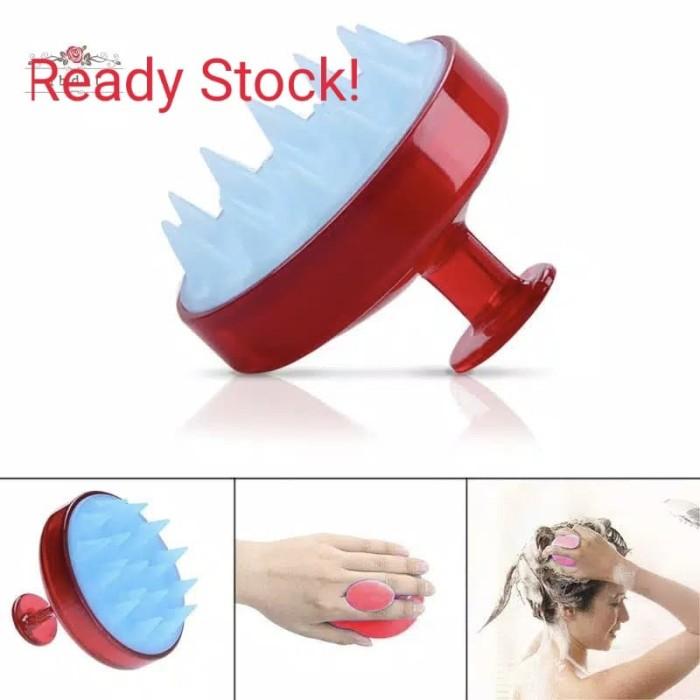 Foto Produk Silicone Scalp Massage Brush Shampoo Massager Hair Comb Beauty Tools dari SentralHome