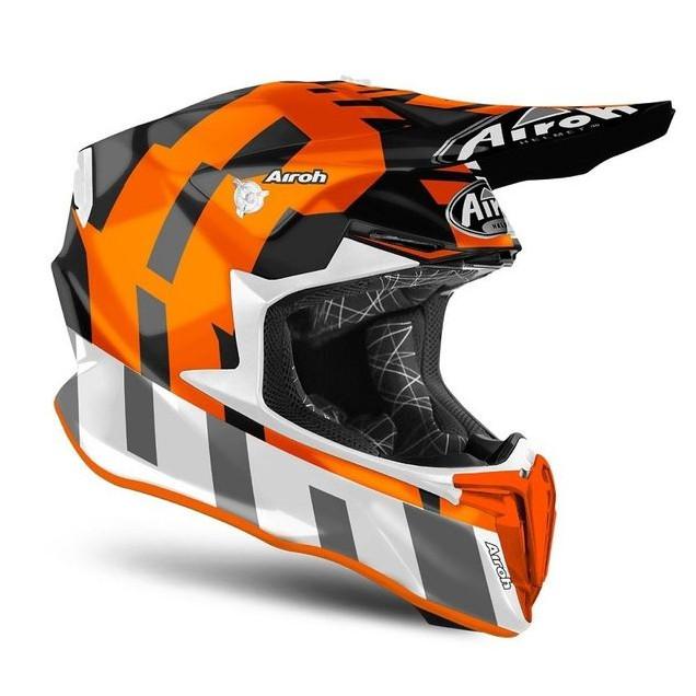 Foto Produk Helm Airoh Twist 2.0 FRAME Orange Matt Motorcross Motocross MX dari Juragan Helm ID