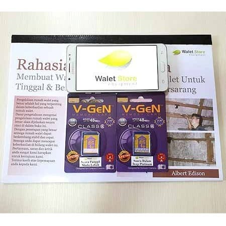 Foto Produk Paket Buku Dan 2 Memory Card Suara Walet Platinum dari Walet Store