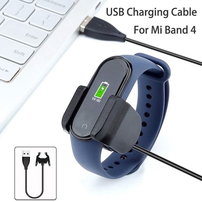 Foto Produk Xiaomi Mi Band 4 USB Charger Clip Design Fast Charging Easy Plug dari Shopatthebees
