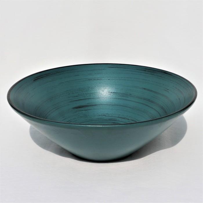 Foto Produk Artisan Ceramic | Peacock Scratch Black Bowl | Mangkok Keramik dari Artisan Ceramic