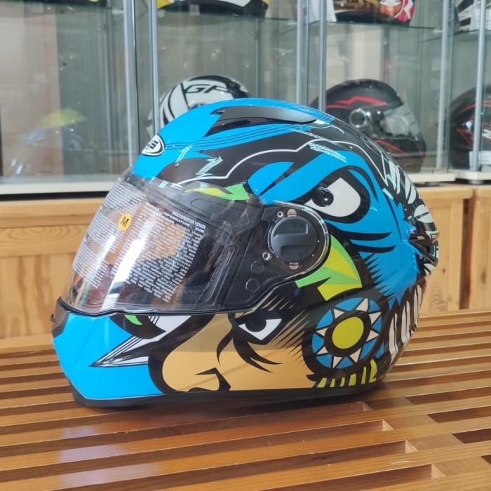 Foto Produk Zeus ZS811 AL29 Black/Blue FREE DARK VISOR Z811 dari Juragan Helm ID