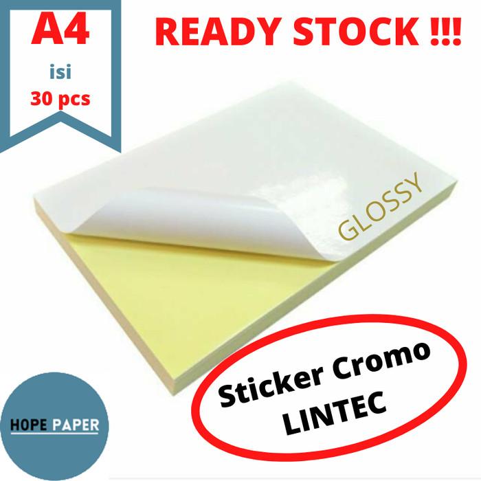 Foto Produk Kertas Stiker Chromo Glossy A4 - 30pcs / Kertas Stiker / Sticker Cromo dari HOPE PAPER