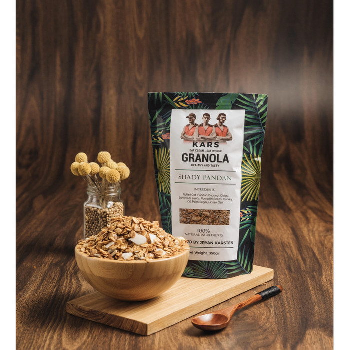 Foto Produk Kars Granola Shady Pandan 350 gram -100% Natural Ingredients dari Karuna Holistic Wellness