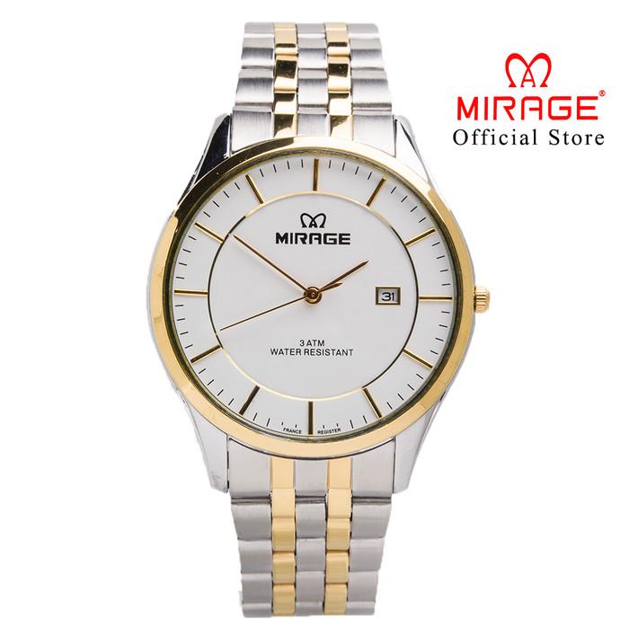 Foto Produk Jam Tangan Pria Klasik Profesional Kombinasi SIlvergold 8544M PP dari Mirage Watch