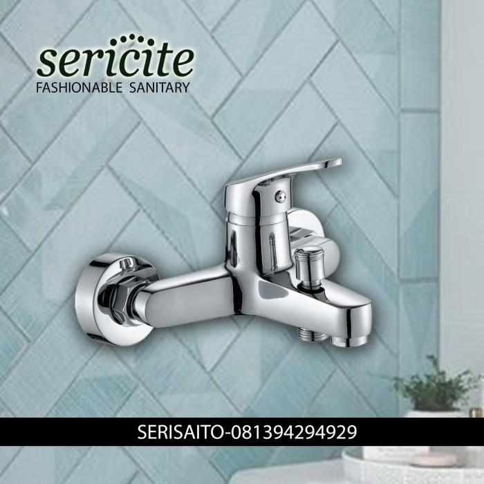 Foto Produk Keran Mixer Panas Dingin Sericite / Kran Air Bathtub Stainless Brass dari serisaito