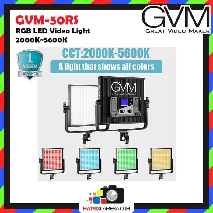 Foto Produk GVM-50RS RGB Video Light 2000K~5600K dari MatrixCamera