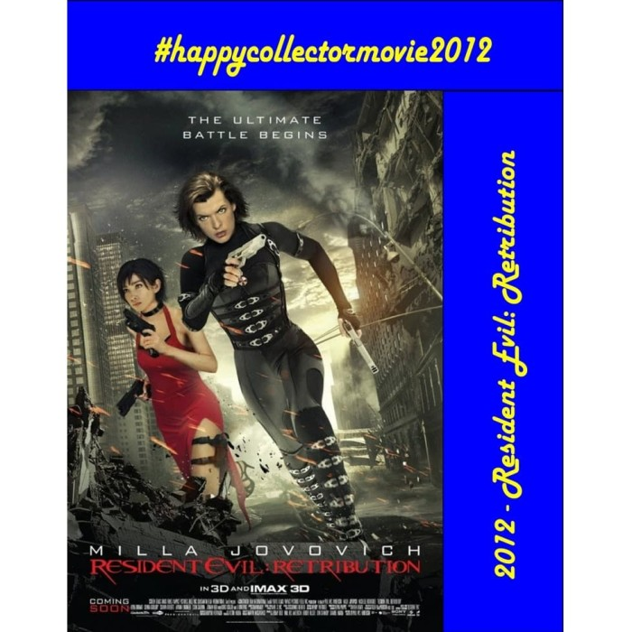Jual Dvd Resident Evil Retribution 2012 Jakarta Selatan Happyc Shop Tokopedia
