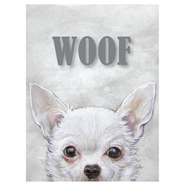 Jual Hiasan Dinding Gambar Anjing Chihuahua Woof Jakarta Barat Jam Dinding Murah Unik Tokopedia