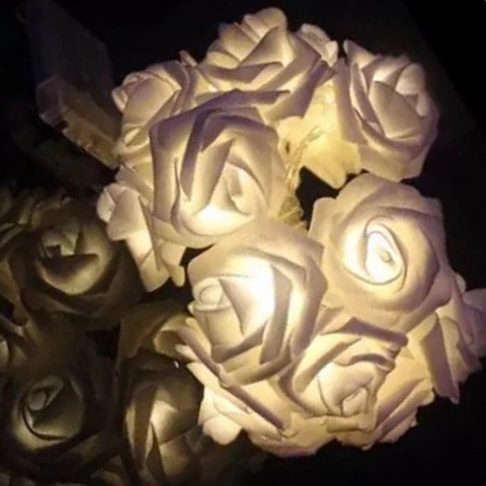 Jual 10m 100led Rose Flower String Lights Christmas Wedding Birthday Jakarta Barat Aqila Kds Tokopedia