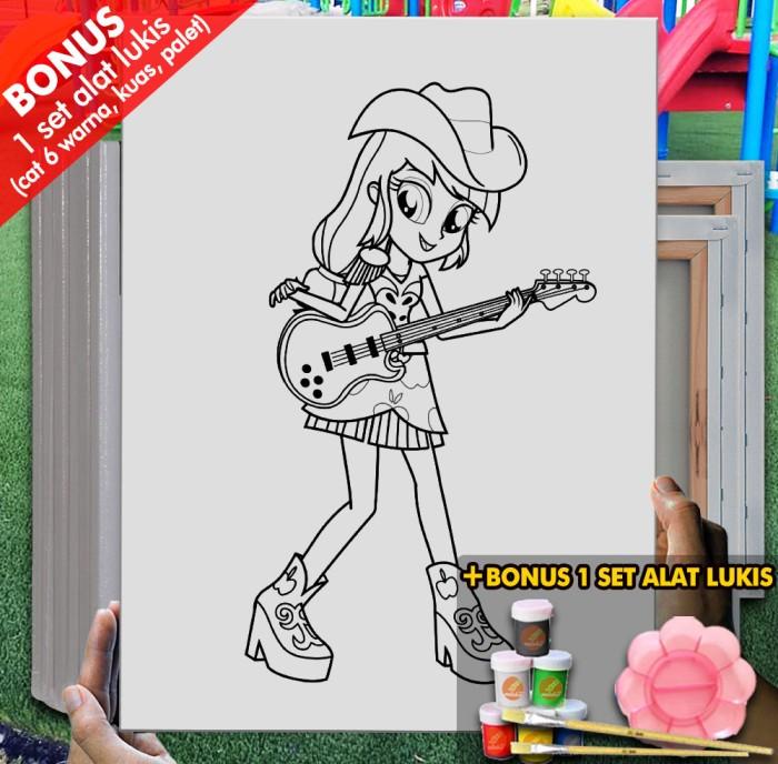 Jual Kanvas Gambar Manusia My Little Pony 30x40 Cm Mel1146 Kota Bandung Melukiscom Tokopedia