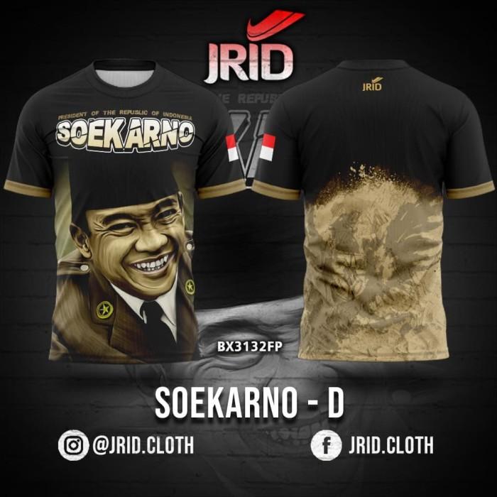 Foto Produk Kaos Baju Jersey Presiden Soekarno - Desain D - BX3132FP JRID dari jrid cloth