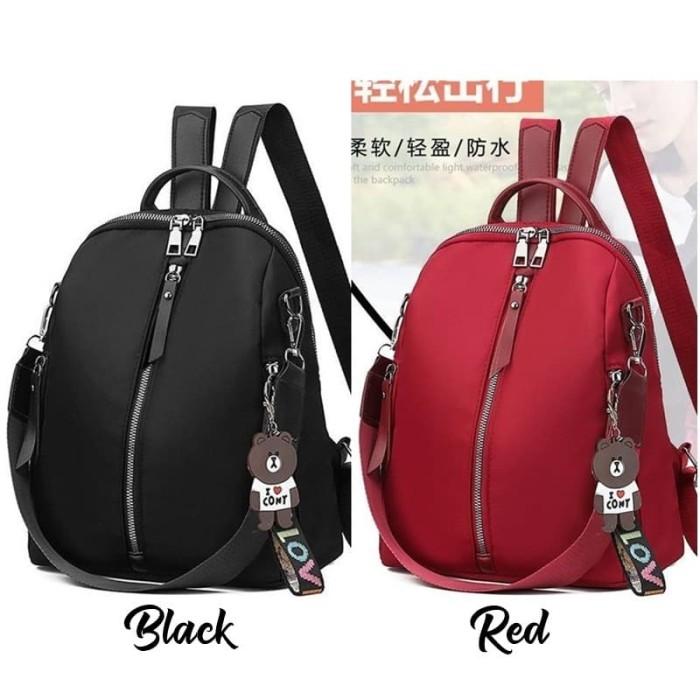 Foto Produk Backpack Multifungsi Tas Ransel Wanita Style Gantungan Brown Kado G635 dari Gudang Distributor Murah