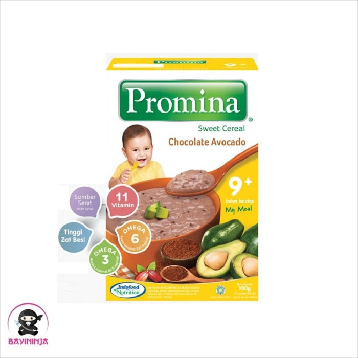 Foto Produk PROMINA Sweet Cereal 9 to 24 Bulan Chocolate Avocado 100 g dari BAYININJA