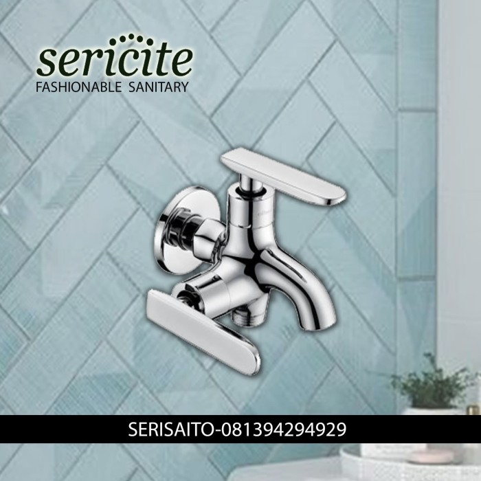 Foto Produk Keran Double Kuningan Sericite / Kran Air Cabang Model TOTO dari serisaito