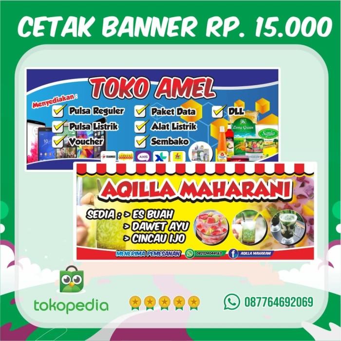Banner Toko Buah - contoh desain spanduk